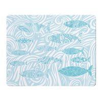 Shoal of Fish Placemat - Aqua Melamine - Coastal Style