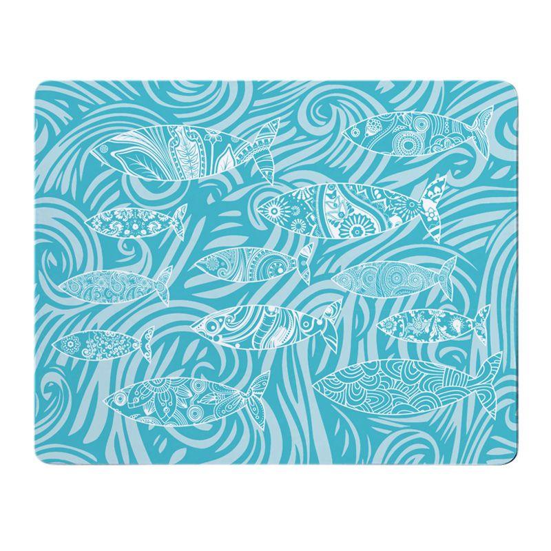 Shoal of Fish Placemat - Turquoise Melamine - Nautical Style