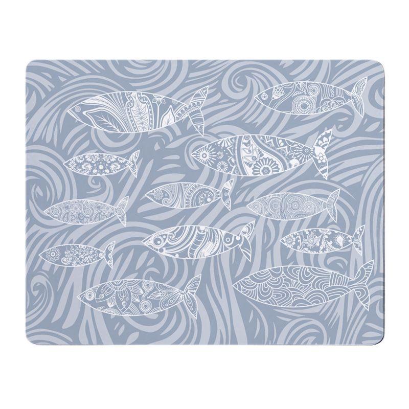 Shoal of Fish Placemat - Pale Grey Melamine - Coastal Style