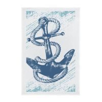 Nautical Full Colour Printed Tea Towel - Anchor