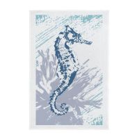 Nautical Full Colour Printed Tea Towel - Seahorse