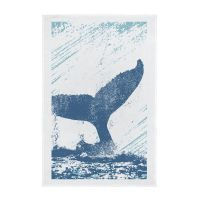 Nautical Full Colour Printed Tea Towel - Whale's Tail