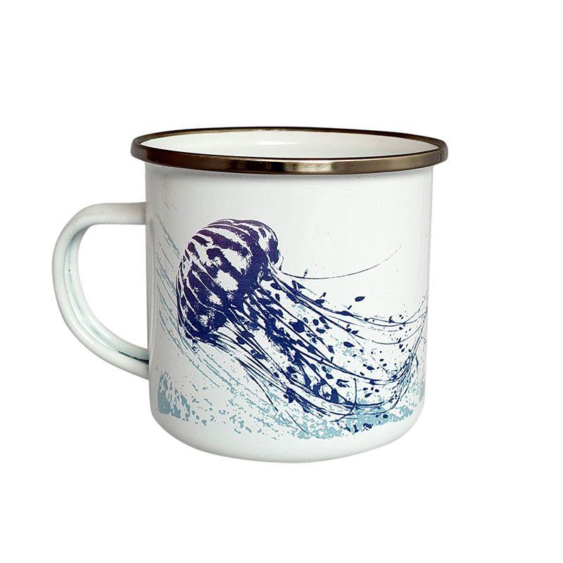 Enamel Mug - Jellyfish Design