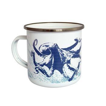 Enamel Mug - Octopus Design