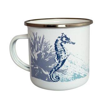 Enamel Mug - Seahorse Design
