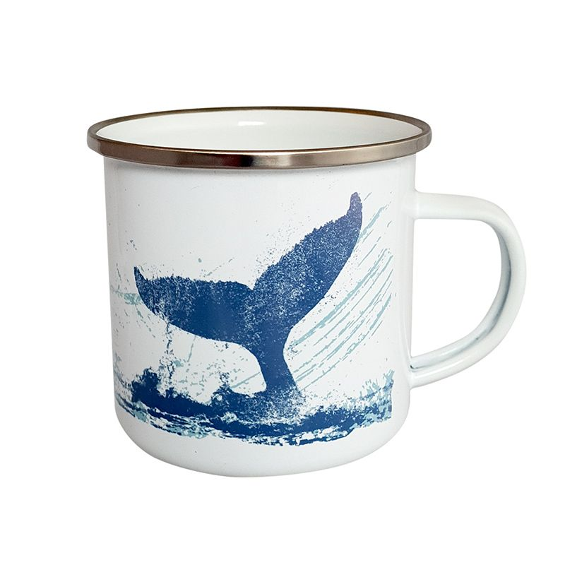 Enamel Mug - Whale's Tail Design