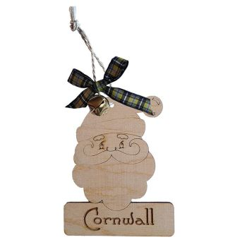 Wooden Hanging - Cornwall Santa Claus Bauble