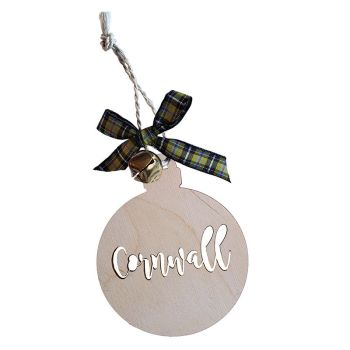 Christmas Wooden Hanging - Cornwall Bauble
