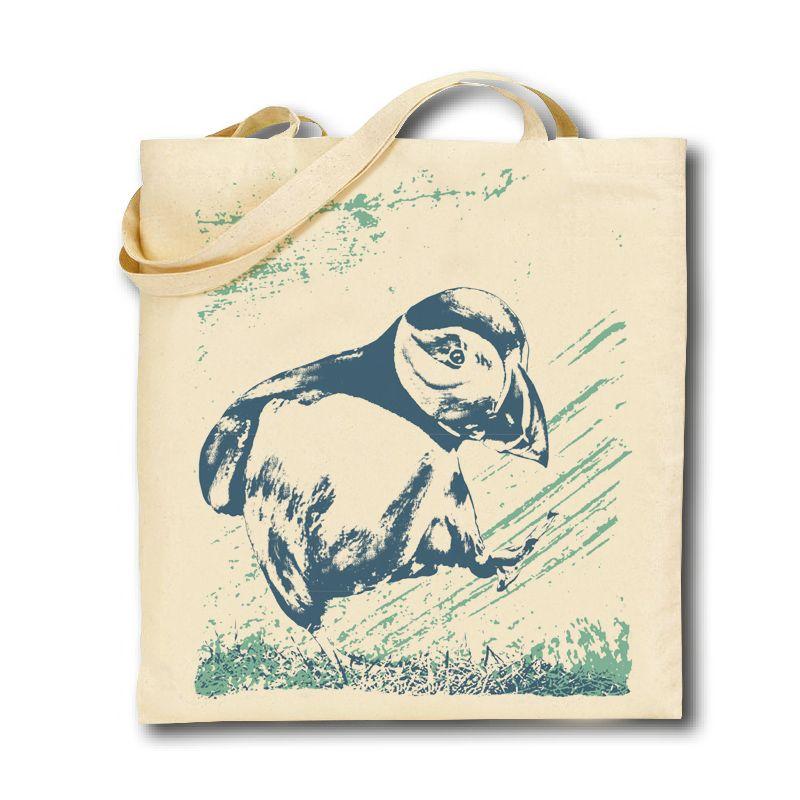 Cotton Tote Bag - Puffin