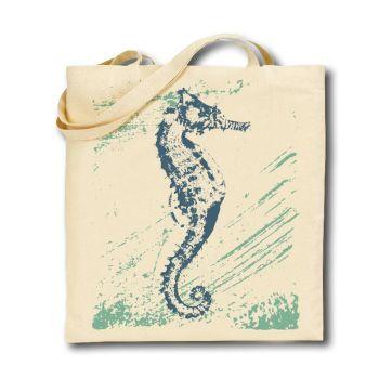 Cotton Tote Bag - Seahorse