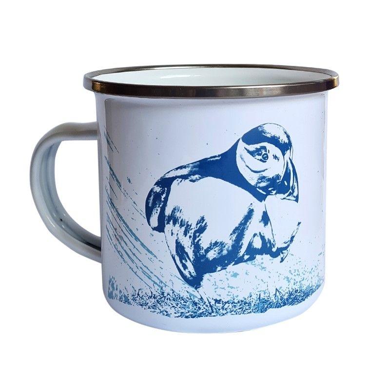 Enamel Mug - Puffin Design