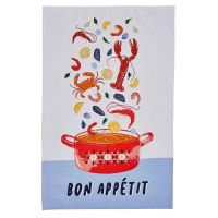 Bon Appetit - Full Colour Tea Towel - 100% Cotton