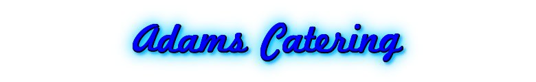 Adams Catering, site logo.