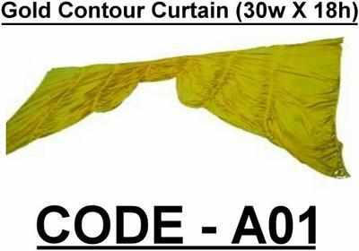 BA001 - Gold Contour Curtain (30w X 18h)
