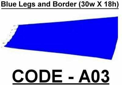 BA003 - Blue Legs and Border (30w X 18h)