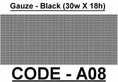 BA008 - Gauze - Black (30w X 18h)