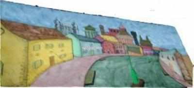 BD009 -Panto Village (30w X 14h)