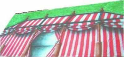 BD013 -Tent Red-White (30w X 18h)