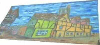 BD016 -Tudor Town (30w X 14h)