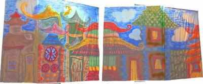BD023 -Chinese Street TABS (2@24w X 18h)