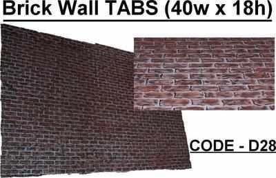 BD028 - Brick Wall TABS (40w X 18h)