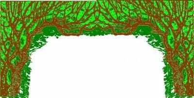 BE010 -Tree Arch (36w X 18h)