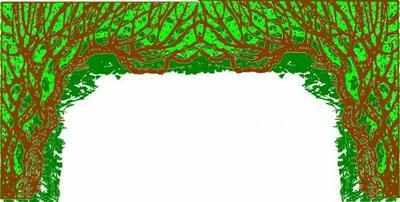BE013 -Tree Arch With Blossom (36w X 18h)
