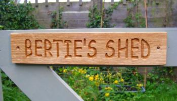 AA112 Personalised Engraved Rustic Style Oak Sign