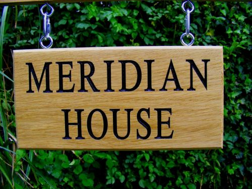 AB110 Double Sided Oak Sign with Hanging Kit