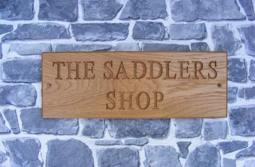 Personalised Engraved Oak House Name/Address Sign