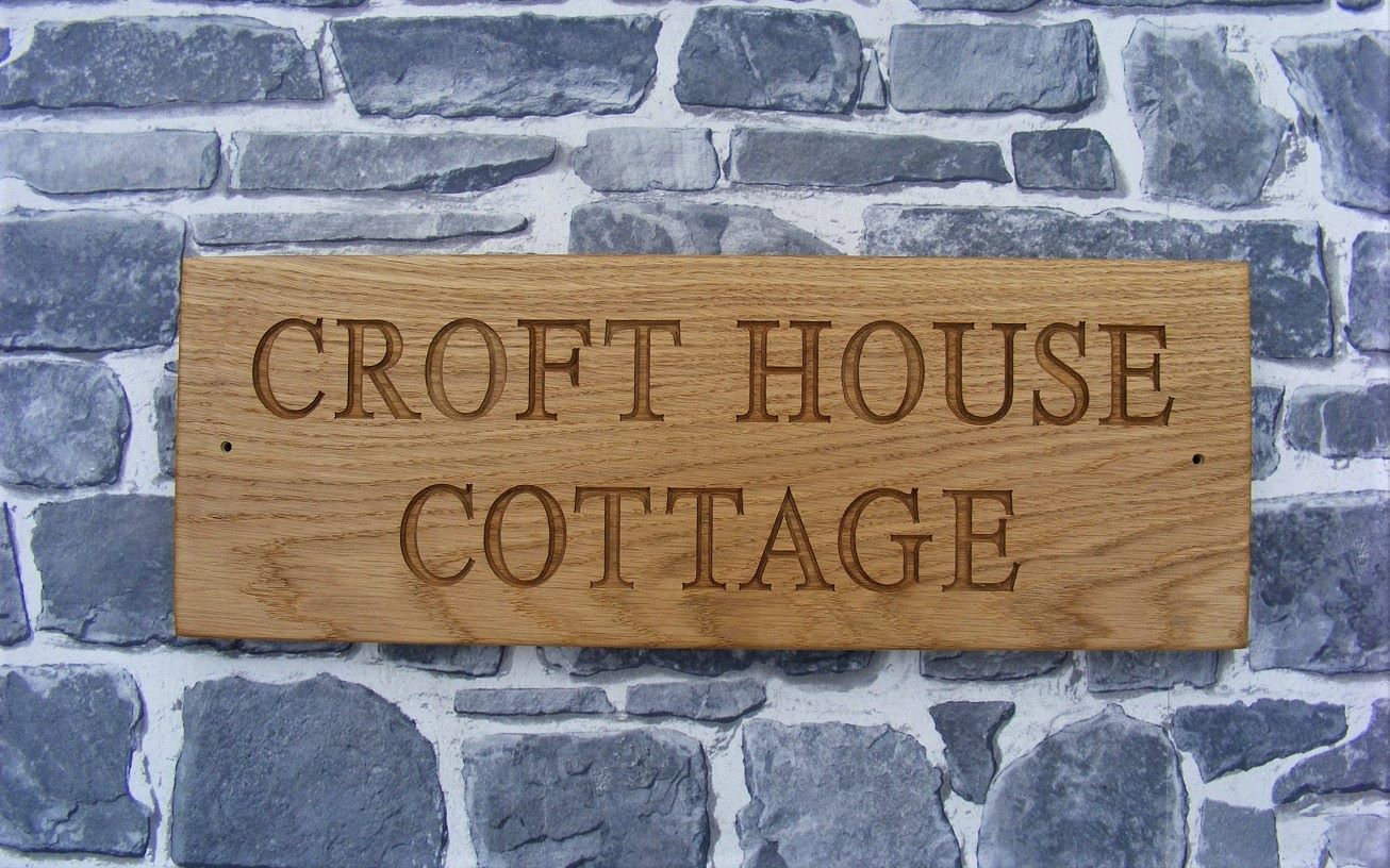 Oak Wood Signs ~ Wooden house signs solid oak sign