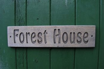 AB140 Eco Friendly, Maintenance Free, Personalised Engraved Oak Sign 40cm x 10cm