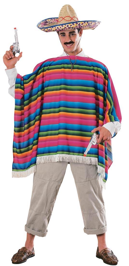 Mexican Poncho & Sombrero set