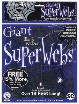 Giant Spiderwebs - Black