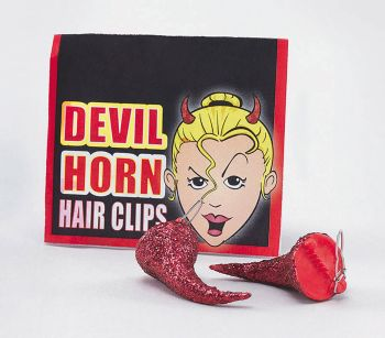 Devil Horns - Hair Clips