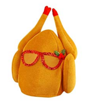 Turkey with Glasses and Holly