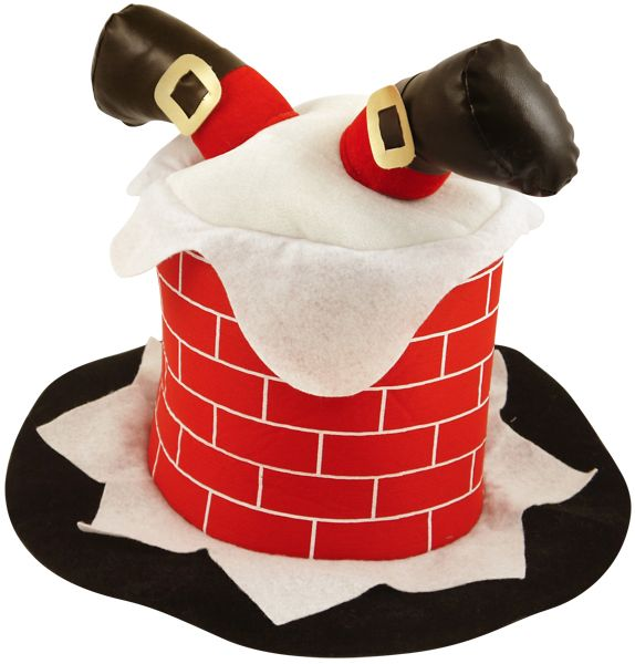Adult Chimney with Santa Legs Hat