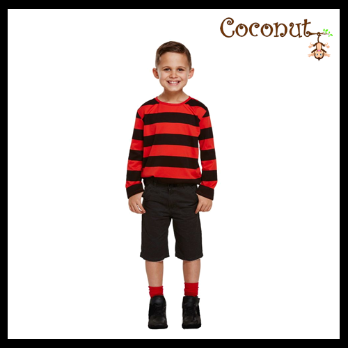 Red and Black Striped Jumper