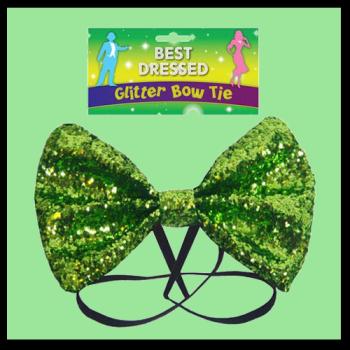 Glitter Bow - Green