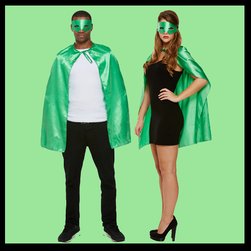 Superhero Cape & Mask - Green