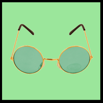 Hippie - Gold Frame with Green Lens