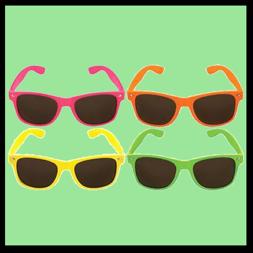 Neon Frame with Dark Lens