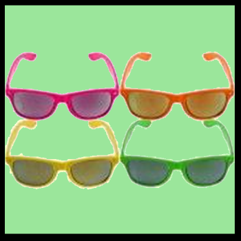 Neon Frame with Mirrored Lens
