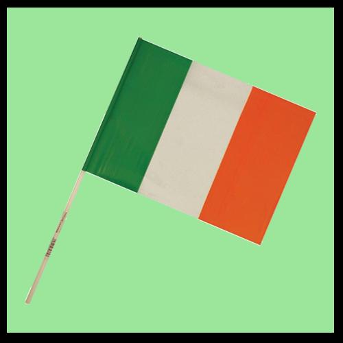 Ireland Flag on Stick