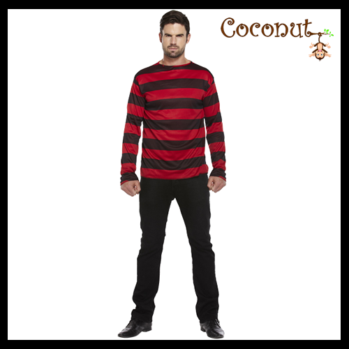 Stripped Jumper - Red & Black