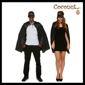Superhero Cape & Mask - Black