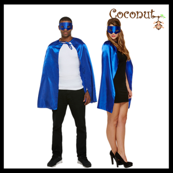 Superhero Cape & Mask - Blue