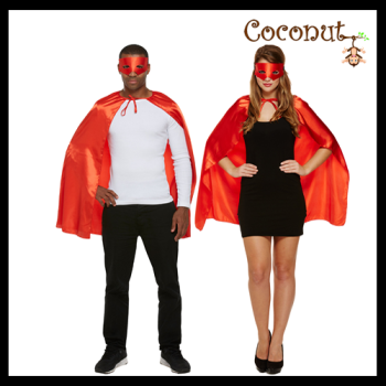 Superhero Cape & Mask - Red