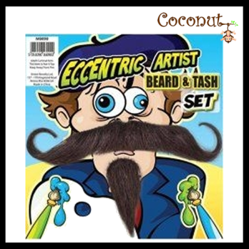 Eccentric Artist Beard and Tash Set