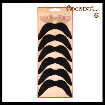 Moustache Pack of 6
